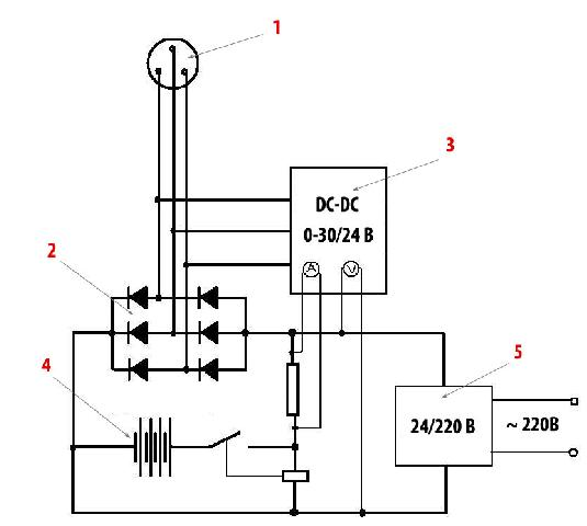 Схема ветряка на автогенераторе